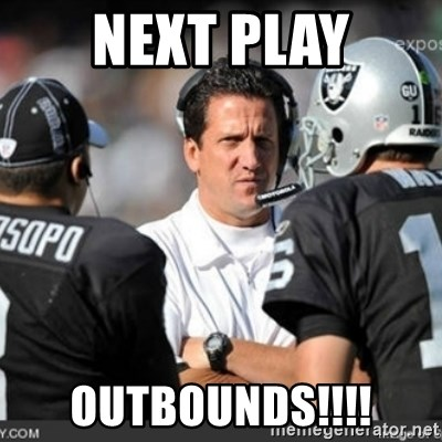 Knapped  - NEXT PLAY OUTBOUNDS!!!!