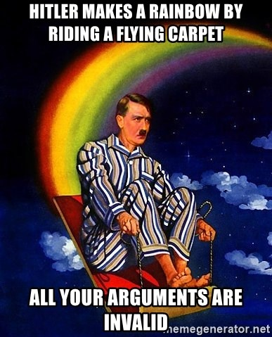 Bed Time Hitler - Hitler makes a rainbow by riding a flying carpet All your arguments are invalid