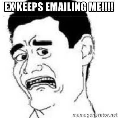 scared yaoming - ex keeps emailing me!!!!
