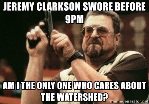 Walter Sobchak with gun - jeremy clarkson swore before 9pm am i the only one who cares about the watershed?