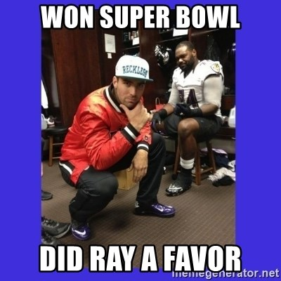 PAY FLACCO - won super bowl did ray a favor