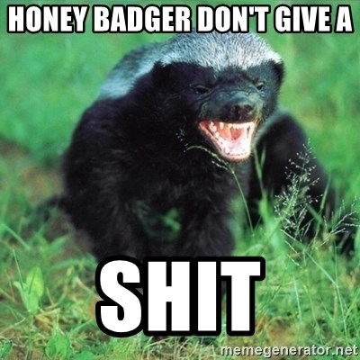 Honey Badger Actual - honey badger don't give a shit