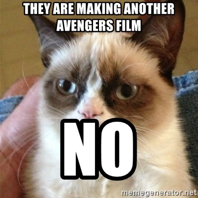 Grumpy Cat  - they are making another avengers film no