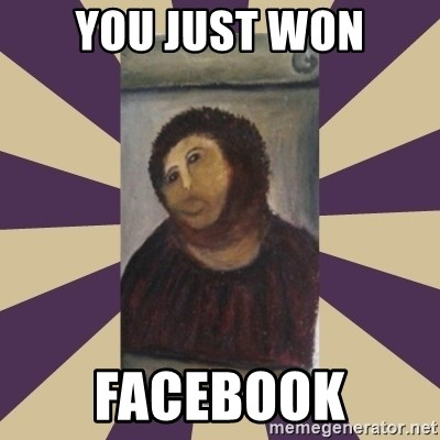 Retouched Ecce Homo - You just won facebook