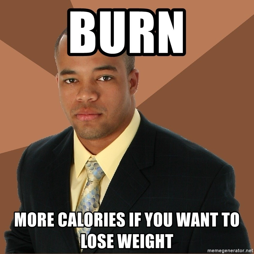 Successful Black Man - BURN more calories if you want to lose weight