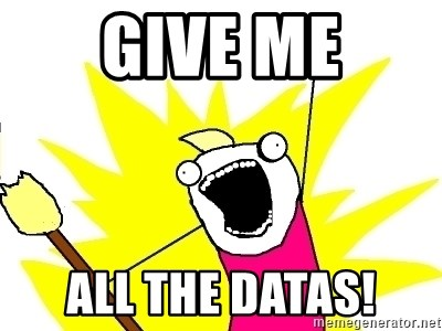 X ALL THE THINGS - Give me All the datas!