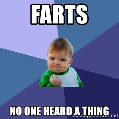 Success Kid - farts no one heard a thing