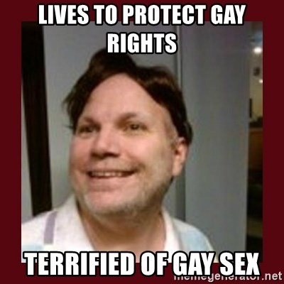 Free Speech Whatley - Lives to protect Gay rights Terrified of gay sex
