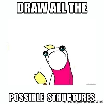 sad do all the things - Draw ALL the  possible  structures