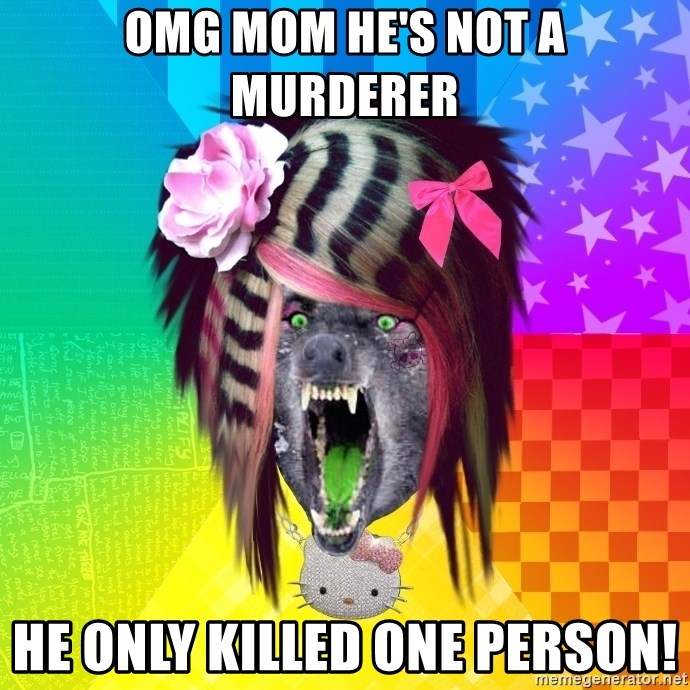 Insanity Scene Wolf - omg mom he's not a murderer he only killed one person!