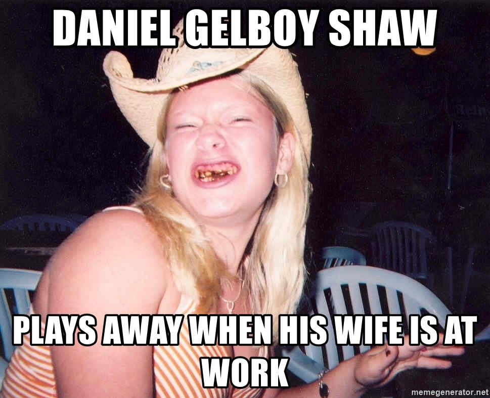 Reagan Fangirl - daniel gelboy shaw plays away when his wife is at work