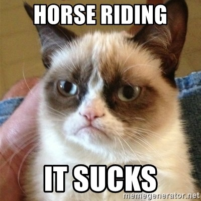 Grumpy Cat  - HORSE RIDING IT SUCKS