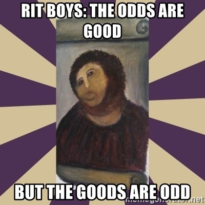 Retouched Ecce Homo - RIT Boys: The odds are good but the goods are odd