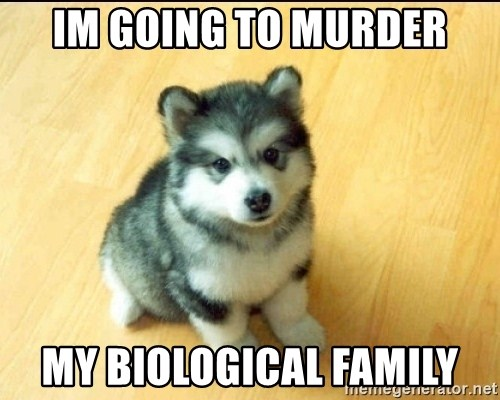 Baby Courage Wolf - im going to murder my biological family