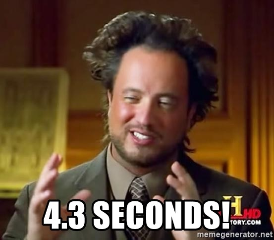 Ancient Aliens -  4.3 seconds!