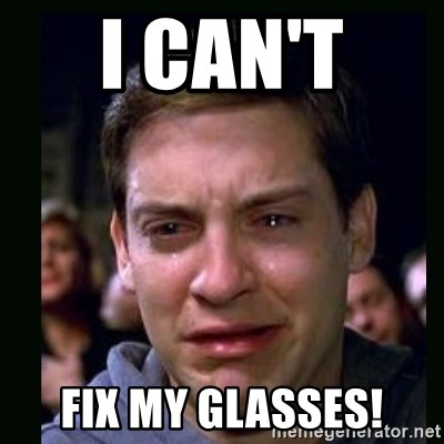 I Cant Fix My Glasses Crying Peter Parker Meme Generator