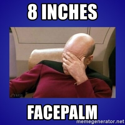 Picard facepalm  - 8 inches facepalm