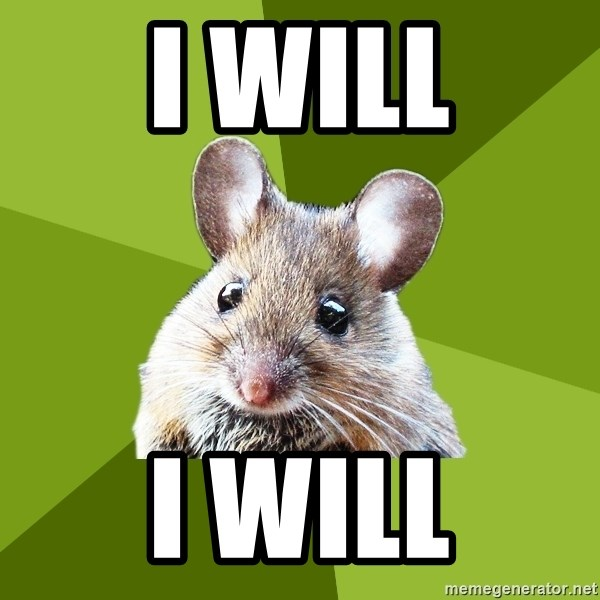 Prospective Museum Professional Mouse - I WILL I WILL