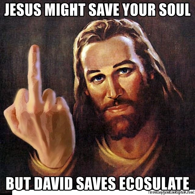 Jesus Ambassador To The Atheists - Jesus might save your soul but David saves Ecosulate