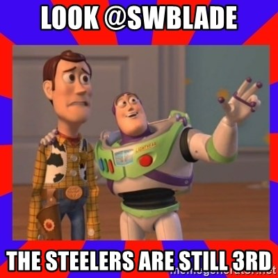 Everywhere - LOOK @SWBLADE  THE STEELERS ARE STILL 3RD