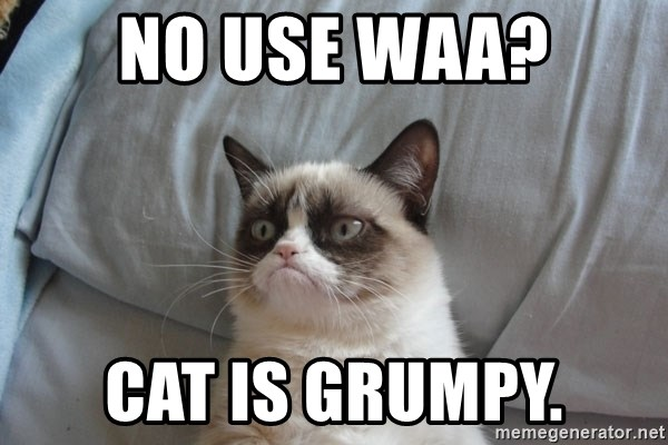 Grumpy cat good - NO USE WAA? CAT IS GRUMPY.