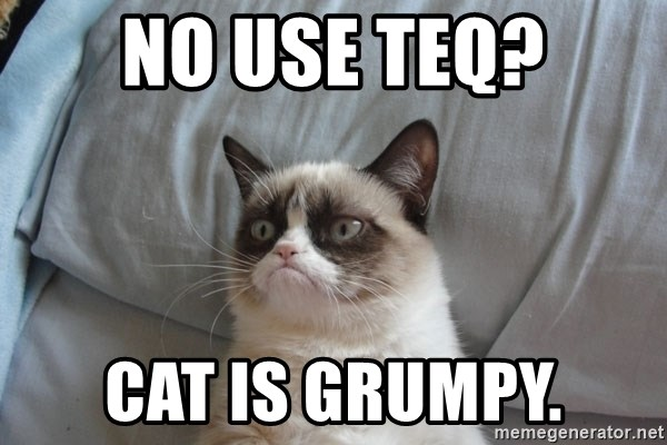Grumpy cat good - NO USE TEQ? CAT IS GRUMPY.