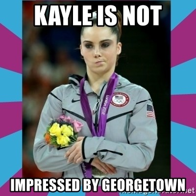 Makayla Maroney  - Kayle is not impressed by Georgetown