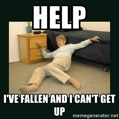 life alert lady - HELp I've fallen and I can't get up