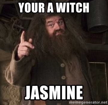 Hagrid - Your a witch jasmine