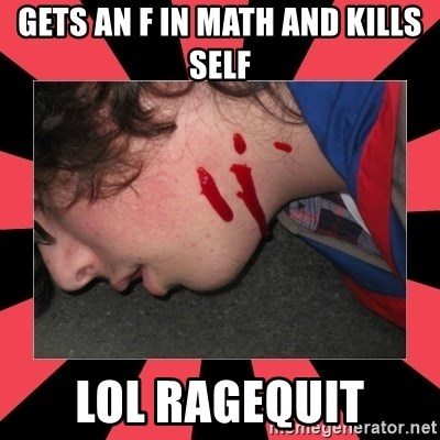 Dead Explorer - Gets an f in math and kills self lol ragequit