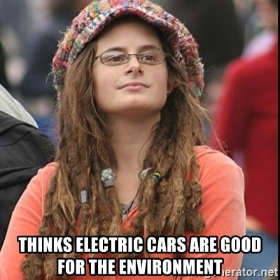 College Liberal -  ThinKs electric cars are good for the ENVIRONMENT