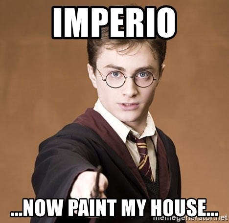 Harry Potter spell - Imperio ...now paint my house...