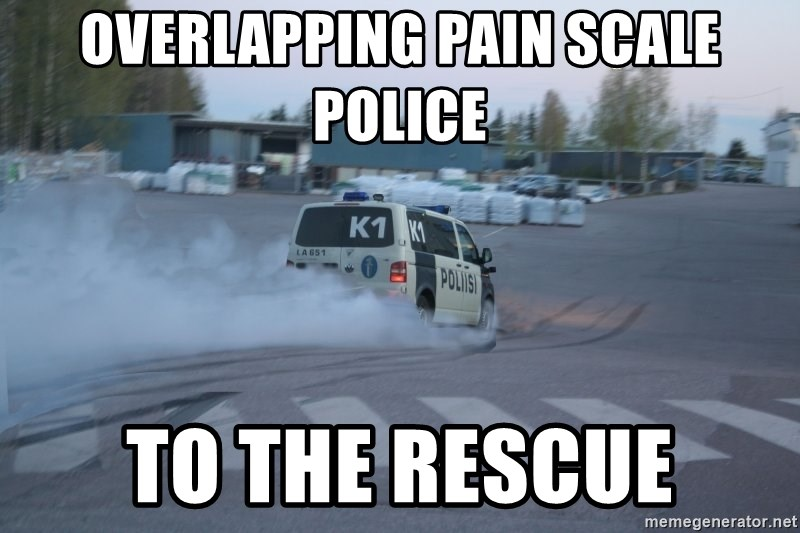 Finnish Police - overlapping pain scale police to the rescue