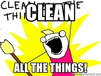 clean all the things - Clean All the things!