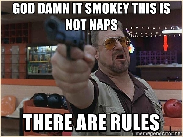 WalterGun - God Damn it Smokey this is not NAPS There are rules