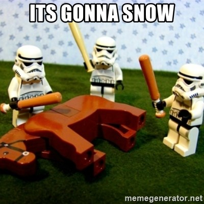 Beating a Dead Horse stormtrooper - Its gonna snow