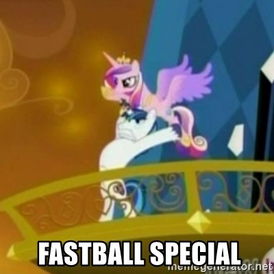 Shining Armor throwing Cadence -   FASTBALL SPECIAL