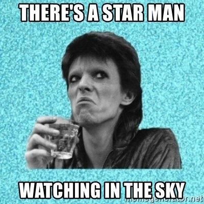 Disturbed Bowie - THERE'S A STAR MAN  WATCHING IN THE SKY