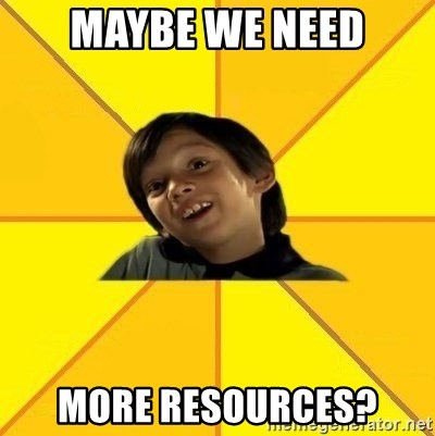 es bakans - maybe we need more resources?