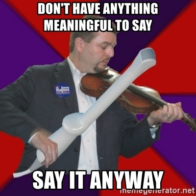FiddlingRapert - Don't have anything meaningful to say say it anyway