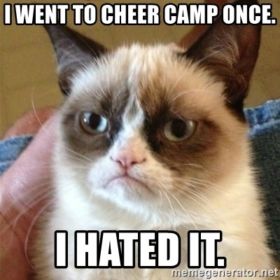 Grumpy Cat  - I went to cheer camp once. I hated it.