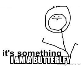 its something -  I AM A BUTTERLFY