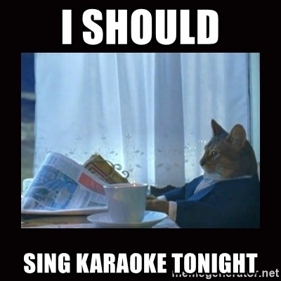 i should buy a boat cat - i should sing karaoke tonight