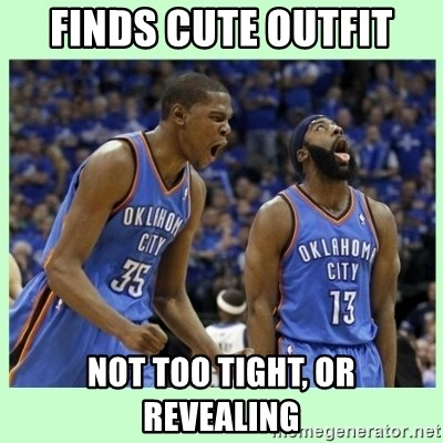 durant harden - FinDs cute outfit Not too tIGht, or rEvealing