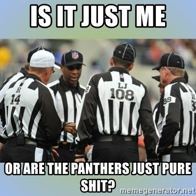 NFL Ref Meeting - Is It Just Me  or Are the panthers just pure shit?