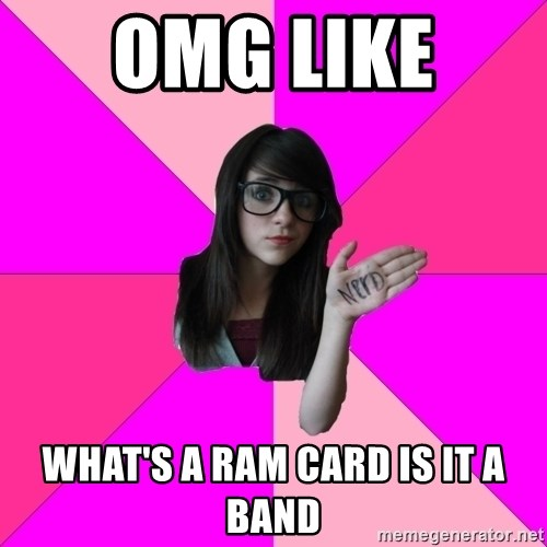 Idiot Nerd Girl - OMG LIKE  WHAT'S A RAM CARD IS IT A BAND
