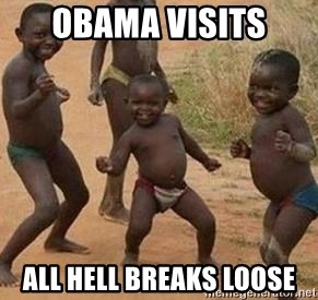 african children dancing - OBAMA VISITS  ALL HELL BREAKS LOOSE