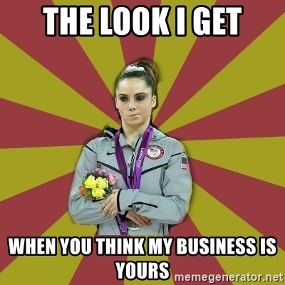Not Impressed Makayla - the look i get when you think my business is yours