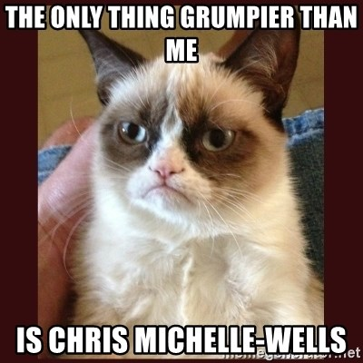 Tard the Grumpy Cat - The only thing grumpier than me  is chris michelle-wells