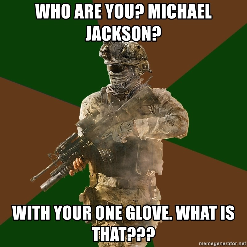 Call Of Duty Addict - who are you? michael jackson? with your one glove. what is that???